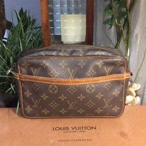 Authentic Louis Vuitton Montaigne clutch
